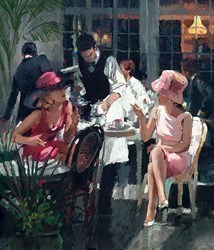 Cafe Royal by Sherree Valentine Daines - Hand Finished Limited Edition on Canvas sized 12x14 inches. Available from Whitewall Galleries